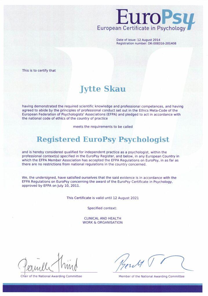 europsy psykolog